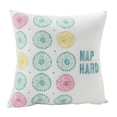 Cleadon Nap Hard Decorative Embroidered 100% Cotton Throw Pillow
