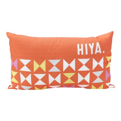 Bloss Hiya Rectangle 100% Cotton Lumbar Pillow