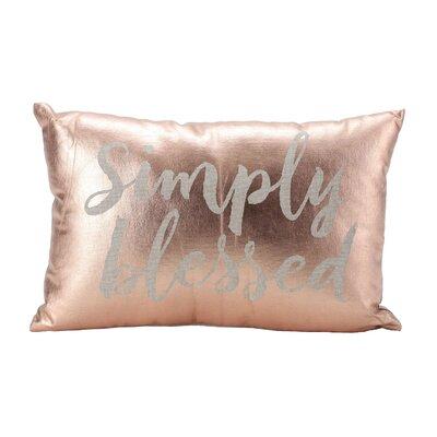 Hazel Simply Blessed 100% Cotton Lumbar Pillow