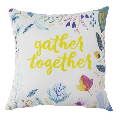 Coatesville Gather Together 100% Cotton Throw Pillow
