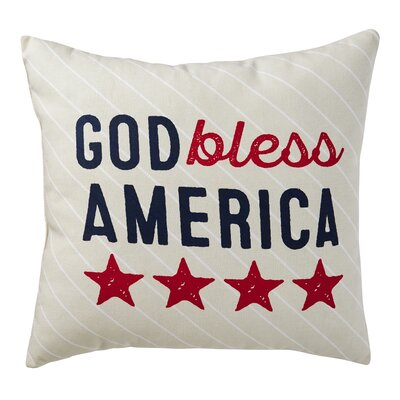 Alchemist God Bless America 100% Cotton Throw Pillow