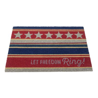 Aleman Home Let Freedom Ring Doormat