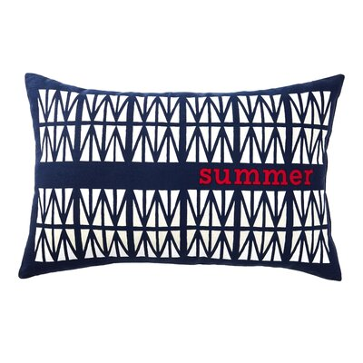 Marne Summer Patriotic Rectangle Indoor/Outdoor Lumbar Pillow