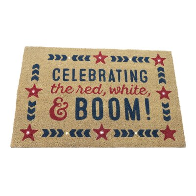 Rivka Celebrate the Red, White and Boom Step Activated Lighted Doormat