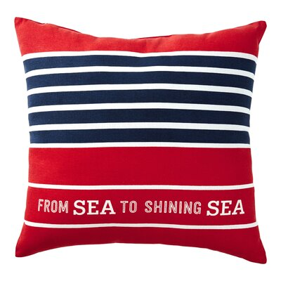 Ashmoore From Sea to Shining Sea Indoor/Outdoor Throw Pillow