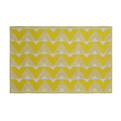 Beier Reversible Yellow/Gray Indoor/Outdoor Area Rug