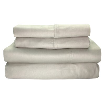 Siesta 300 Thread Count 100% Cotton Sheet Set Size: Twin, Color: Linen