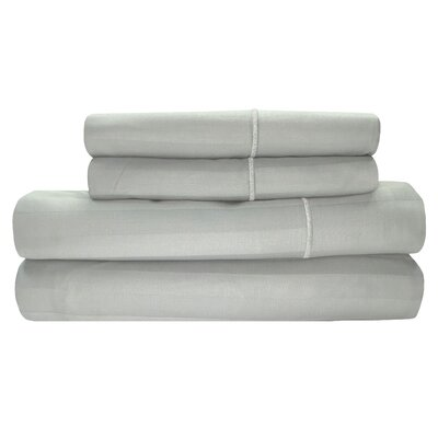 Vertika 300 Thread Count 100% Cotton Sheet Set Size: Full, Color: Glacier