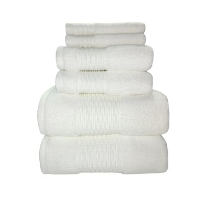 Luna 6 Piece Towel Set Color: White