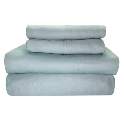 Millsboro 300 Thread Count 100% Cotton Sheet Set Size: Full, Color: Periwinkle