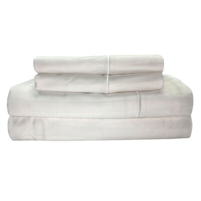 Vertika 300 Thread Count 100% Cotton Sheet Set Size: Full, Color: Snow
