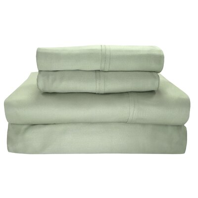 Siesta 300 Thread Count 100% Cotton Sheet Set Size: King, Color: Sage