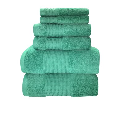 Luna 6 Piece Towel Set Color: Wasabi