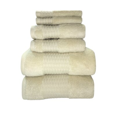 Luna 6 Piece Towel Set Color: Angora