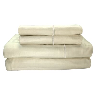 Vertika 300 Thread Count 100% Cotton Sheet Set Size: King, Color: Birch