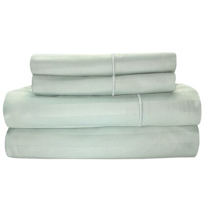 Vertika 300 Thread Count 100% Cotton Sheet Set Size: King, Color: Mist