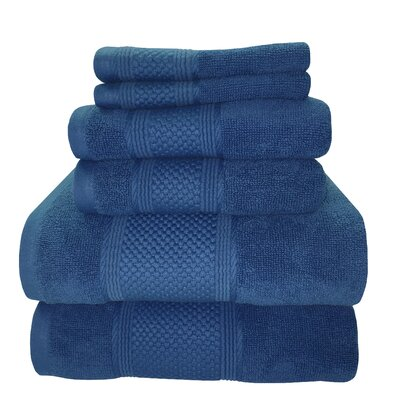 Horizon 6 Piece Towel Set Color: Nautical