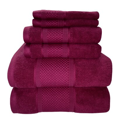 Horizon 6 Piece Towel Set Color: Imperial