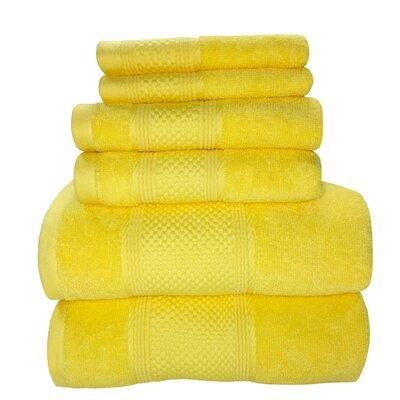 Horizon 6 Piece Towel Set Color: Lemon