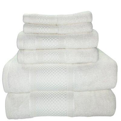 Horizon 6 Piece Towel Set Color: White