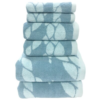Ripple 6 Piece Towel Set Color: Pacific Blue