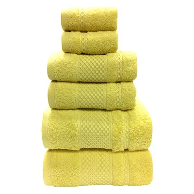 Fitchett 6 Piece Towel Set Color: Sunlight