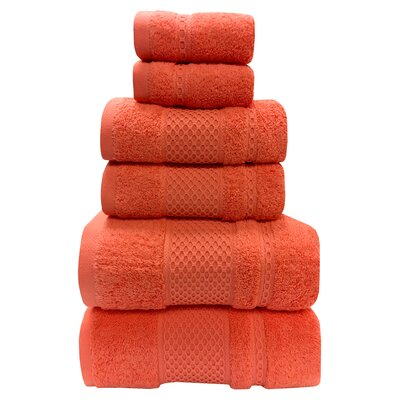 Fitchett 6 Piece Towel Set Color: Hibiscus