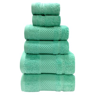 Fitchett 6 Piece Towel Set Color: Glass
