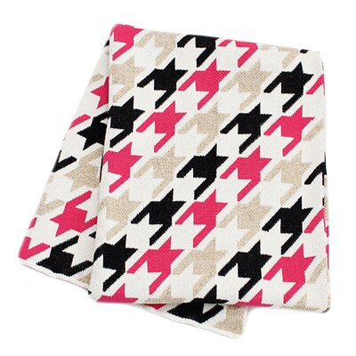 Fashionista Houndstooth Throw Blanket