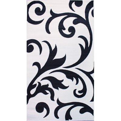 Melendez Ivory/Black Area Rug Rug Size: 5 x 8