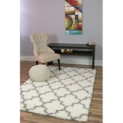 Colon White/Gray Area Rug Rug Size: 8 x 10