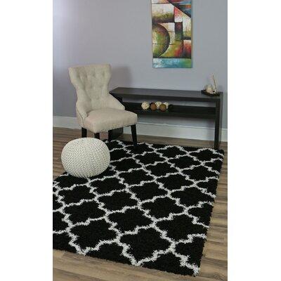 Mason Black/White Area Rug Rug Size: 7'10