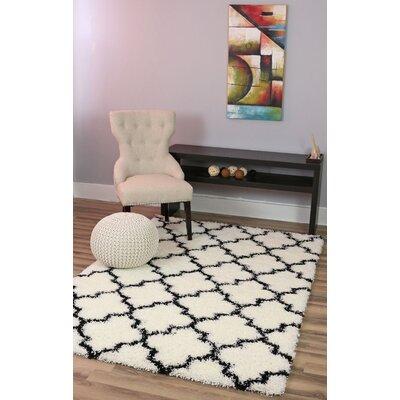 Wyatt White/Black Area Rug Rug Size: 710 x 910