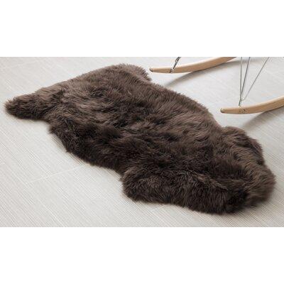 Handmade Dark Brown Area Rug