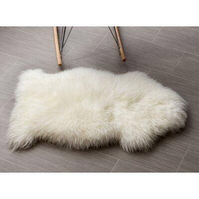 Handmade Shag Sheepskin Ivory Area Rug