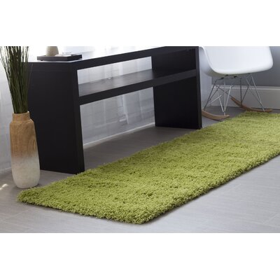 Green Area Rug Rug Size: Runner 27 x 8