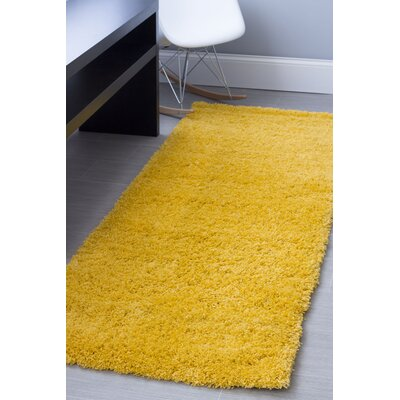 Yellow Area Rug Rug Size: 4 x 6