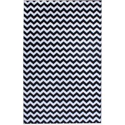 Merissa Black Area Rug Rug Size: 5 x 8