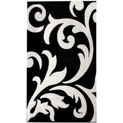 Melendez Black/White Area Rug Rug Size: 8 x 10