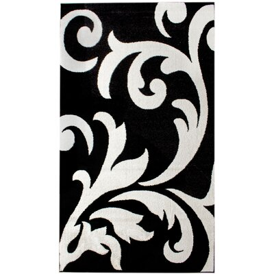 Melendez Black/White Area Rug Rug Size: 5 x 8
