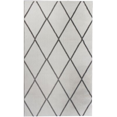 Madison Avenue Gray/White Area Rug Rug Size: 3' x 5'