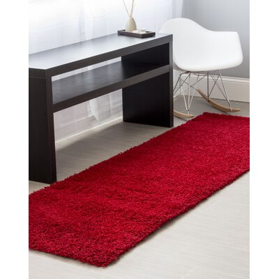 Red Area Rug Rug Size: Runner 27 x 8