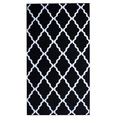 Florine Black Area Rug Rug Size: 3 x 5