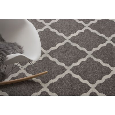 Florine Gray Area Rug Rug Size: Runner 28 x 8