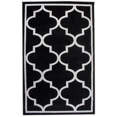 Florine Black Area Rug Rug Size: 33 x 5