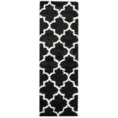 Mason Black/White Area Rug Rug Size: Runner 27 x 8
