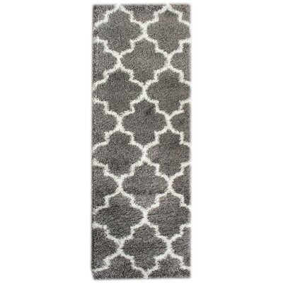 Sampson Gray/White Area Rug Rug Size: Runner 27 x 8