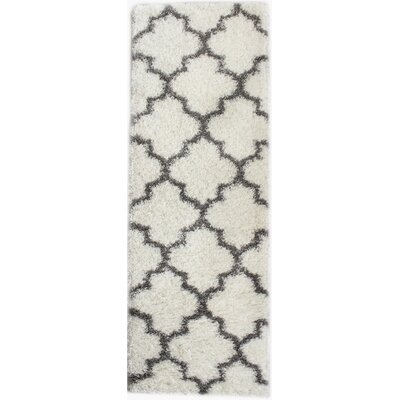 Colon White/Gray Area Rug Rug Size: Runner 27 x 8