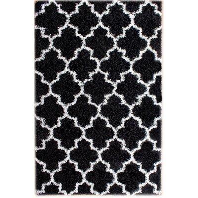 Mason Black/White Area Rug Rug Size: 2 x 3
