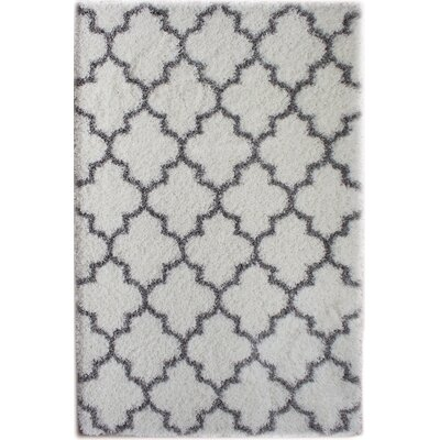 Colon White/Gray Area Rug Rug Size: 2' x 3'